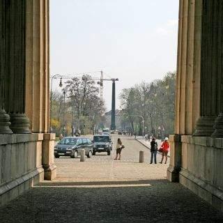 Blick von den Propyläen in Richtung Karolinenplatz