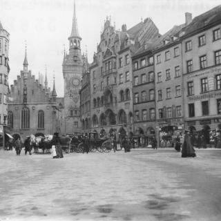 Marienplatz und Fußgängerzone von 1870 bis heute