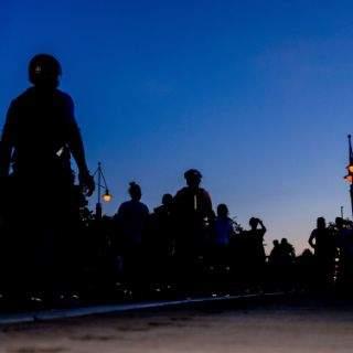 Erste Blade Night des Jahres auf der Tierpark-Strecke
