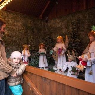 Das Weihnachtsdorf im Kaiserhof der Münchner Residenz
