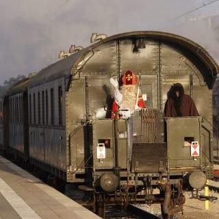 In der historischen Lok durch München