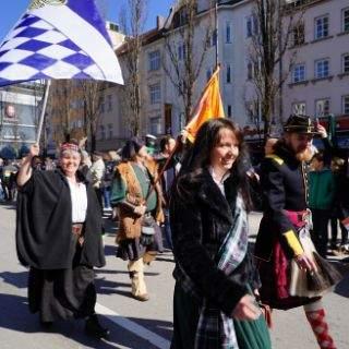 Viel Sonne und gute Laune bei St Patricks Day in München