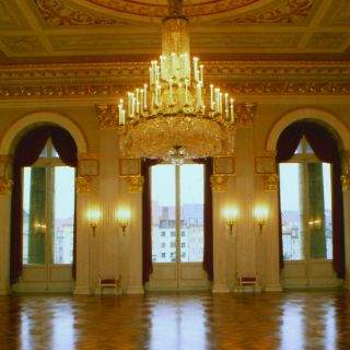 Der Königssaal auf der Ebene des ersten Rangs...