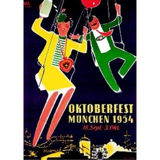 Oktoberfestplakat 1954