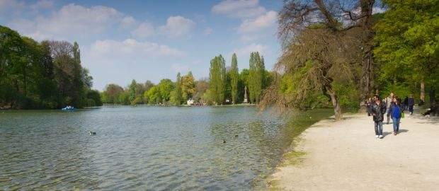 Kleinhesseloher See im Englischen Garten