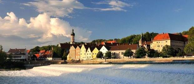 Das Lechwehr in Landsberg am Lech