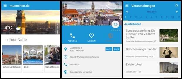 München App für Android Vorschau
