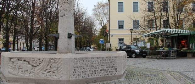 Brunnen am Pfanzeltplatz