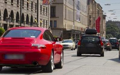 Die Maximilianstraße in München.