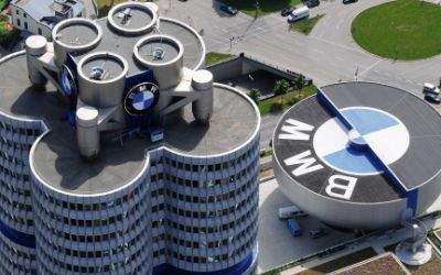 BMW Museum und Hochhaus von oben