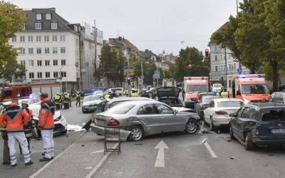 Unfallort an der Nymphenburger Straße