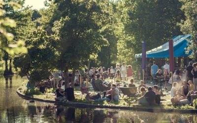 Das Café Gans am Wasser im Westpark