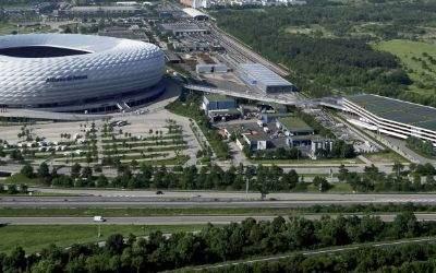Das geplante Parkhaus an der Allianz Arena.