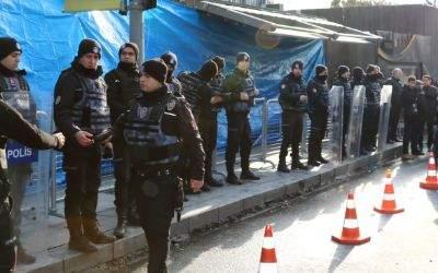 Türkische Polizei nach dem Anschlag in Istanbul.