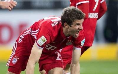 Thomas Müller jubelt nach seinem Treffer zum 1:0