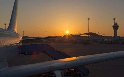 Sonnenauf am Flughafen München