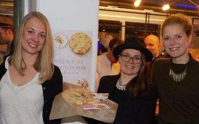 """Kickoff-Veranstaltung bei """"Kauf Lokal"""" 2017: Hier v.li. Anna, Katharina, Maxi, Verena und Fabian - die jungen Leute haben das Projekt Kuchentratsch entwickelt"""