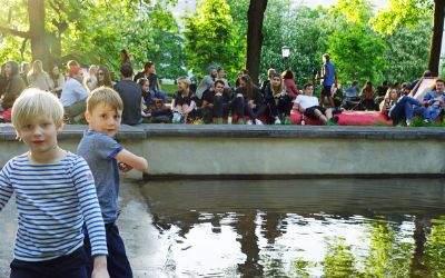Kinder haben Spaß beim Kulturstrand 2017