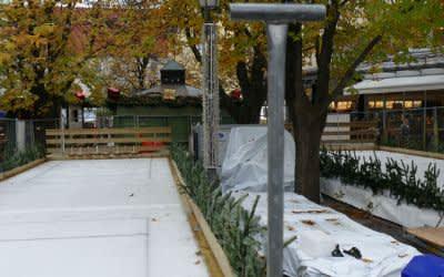 Eisstockbahn am Viktualienmarkt