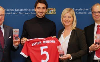 FC Bayern stellt von Sommer 2018 an bei Heimspielen auf Mehrwegbecher um