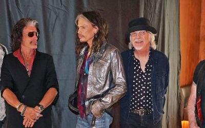 Aerosmith beim Fotocall in München.