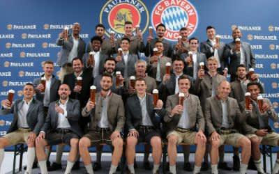 Lederhosenshooting des FC Bayern München