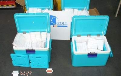 Fund von Ampullen eines Dopingmittels am Flughafen