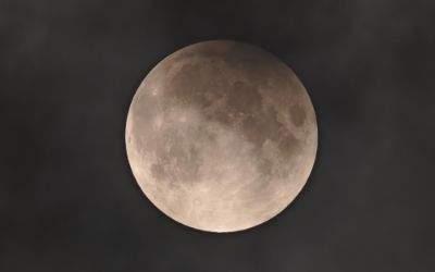 Halbschattenfinsternis des Mondes in der Nacht vom 10. auf 11.2.2017