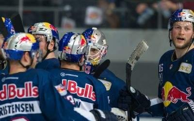 Jubel beim EHC Red Bull München.