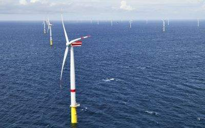 Offshore-Windpark Sandbank westlich von Sylt