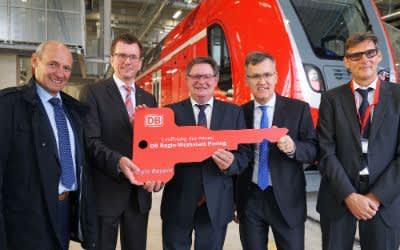 Eröffnung des Regio-Werks Pasing der Deutschen Bahn