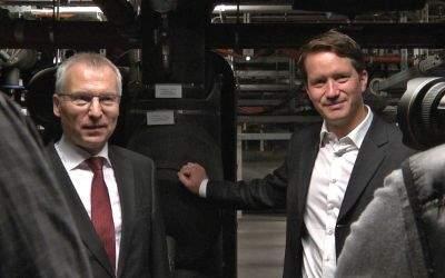Dr. Florian Bieberbach und Helge-Uve Braun stellen das SWM Fernkältenetz vor