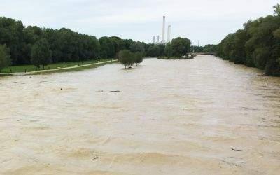 Isar-Hochwasser im Juli 2017
