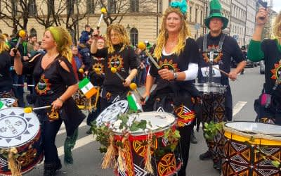 Parade zum St. Patrick's Day in München am 11.3.2018
