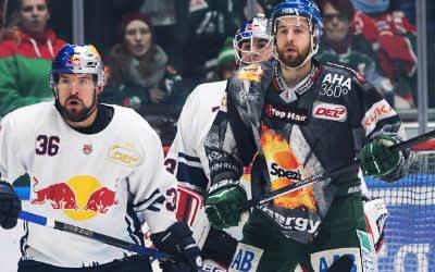 Spielszene im Match Augsburg gegen den EHC.