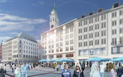 Visualisierung des Hugendubel-Gebäudes nach dem Umbau.