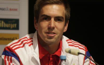 Philipp Lahm auf Pressekonferenz