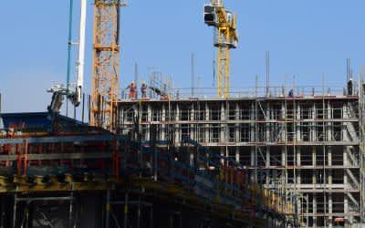Wohnungsbau Bauen für neue Wohnhäuser in München