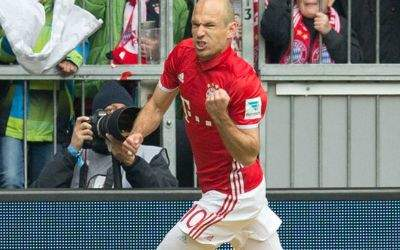 Arjen Robben nach seinem 1:1-Ausgleichstreffer gegen Mainz 05