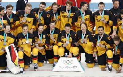 Silber für die deutsche Eishockey-Nationalmannschaft bei den Olympischen Winterspielen