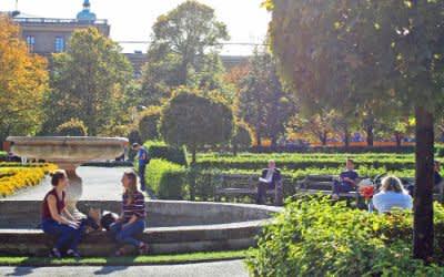 Sonniges Herbstwetter im Hofgarten