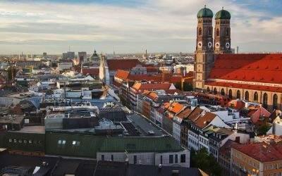 Das Panorama von München.