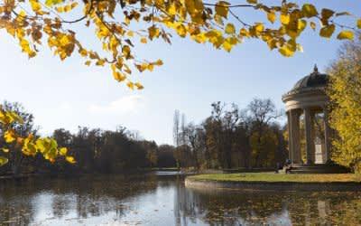 Der Nymphenburger Schlosspark im Herbst