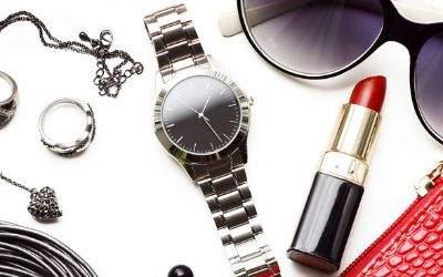 accessoire sonnenbrille handtasche lippenstift