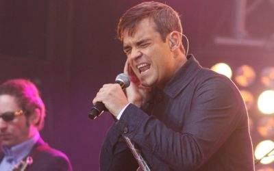 Robbie Williams auf der Bühne