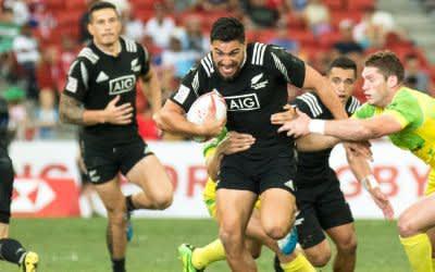 Rugby7: Spielszene aus Neuseeland gegen Australien