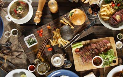 Arabisches Essen in der Küche