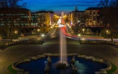 Blick vom Friedensengel auf die Prinzregentenstraße