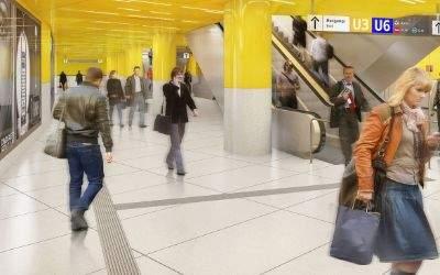 Visualisierung: So soll der Umsteigebereich zwischen den Geschossen am Sendlinger Tor aussehen