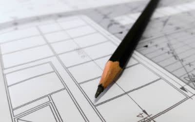 Plan und Bleistift